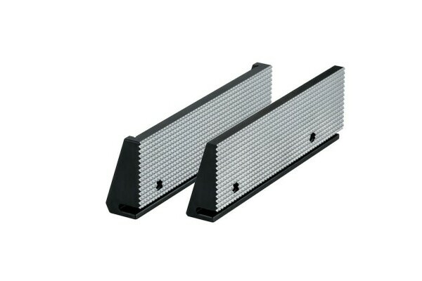 Standard insert fine checkered RNSf, size 5, jaw width 200, held by two permanent magnets