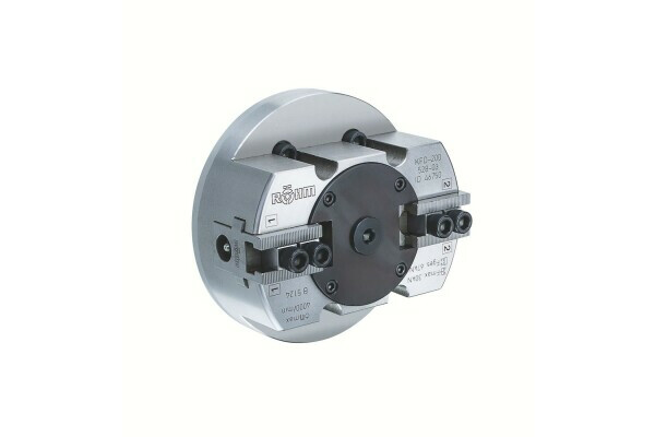 power chuck out through-hole  KFD 200, 2-jaw, weight reduced, cylindrical center mount