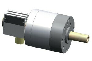 LVS air-actuating cylinders out through-hole, size 350,safety device+ stroke control  - 2